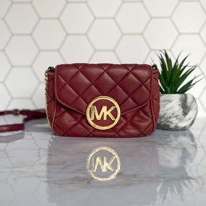 Michael Kors Quilted Maroon Crossbody Bag